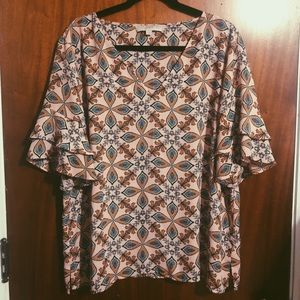 Beautiful Printed LOFT Blouse!